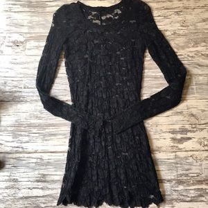 Vintage lace long sleeve dress.